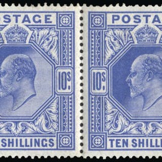 Great Britain 1911 10s blue. SG318.