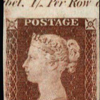 Great Britain 1841 1d red brown plate 86 Imprimaturs, SG8