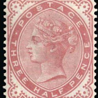 "Great Britain 1880 1½d ""Provisional issue"" colour trial. SG167var."