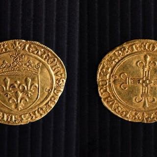 France, Charles VIII 1483-1498 Eau d'or Soleil