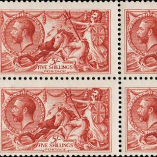 Great Britain 1913 King George V 5s Rose carmine, SG401