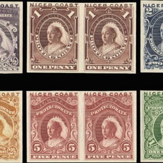 Niger Coast 1894 (1 Jan) provisional issue with 'OIL RIVERS' obliterated