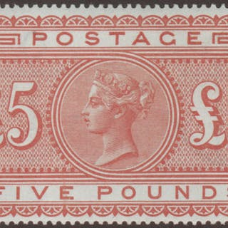 Great Britain 1882 £5 Orange (Plate 1), Unmounted Mint SG137