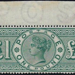 Great Britain 1891 £1 Green. SG212