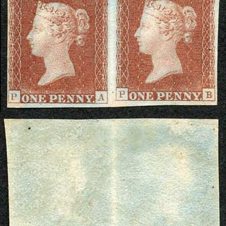 Great Britain 1841 Penny Red (PA/PB) Plate 1b.