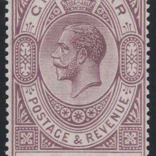 Gibraltar 1925 £5 violet and black, Unmounted Mint SG108