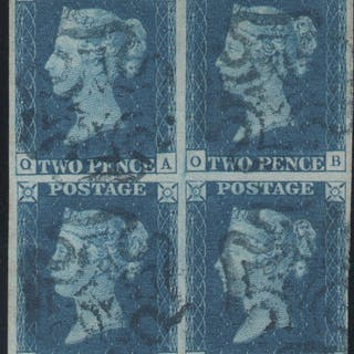 Great Britain 1840 2d. Blue from Plate 2 SG5