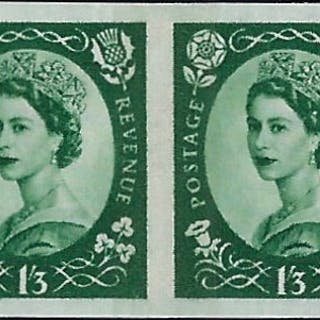 Great Britain 1961 1s3d Green. SG618var
