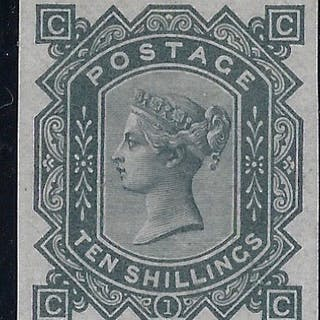 Great Britain 1878 10s Greenish grey Plate 1. SG128var