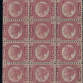 Great Britain 1870 ½d Rose Red Plate 15, SG48