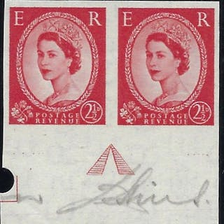 Great Britain 1956 2½d Carmine-red 'Wildings' (Watermark St Edwards