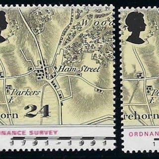 Great Britain 1991 24p Bicentenary of Ordnance Survey, SG1578ea.