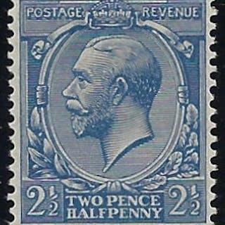 Great Britain 1924 1½d Blue (No Watermark). SG422a
