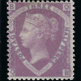 Great Britain 1860 1 1/2d Rosy mauve Plate 1, SG53a