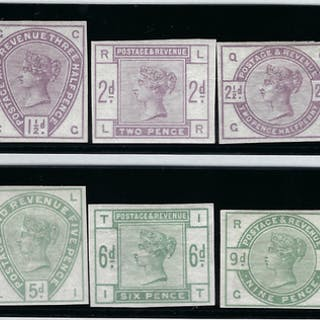 "Great Britain 1883-84 1/2d-1s ""Lilac and Green"", SG187/96var"