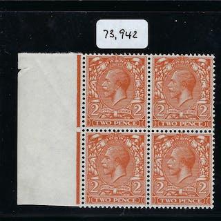 Great Britain 1924 2d Orange (No Watermark), SG421a