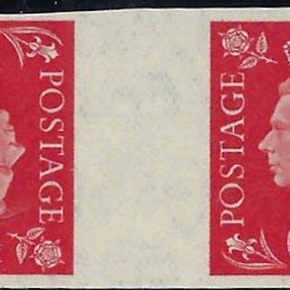 Great Britain 1937 1d Scarlet. SG463var