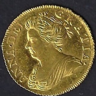 Great Britain 1702-1714 Anne. Gold, Guinea, Half. Post Union Issue.