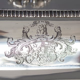 A Very Fine Large Silver Entree Dish with Warming Dish London 1814