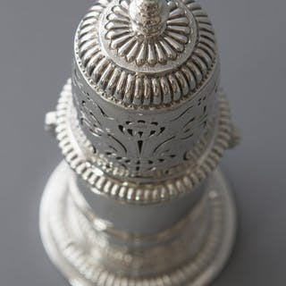 A very rare William III britannia silver lighthouse caster, London