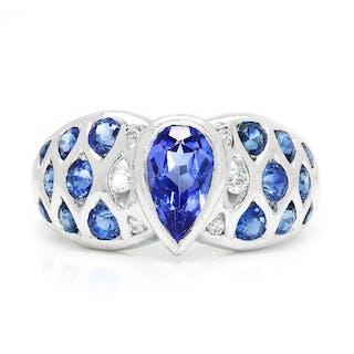 Le Vian Tanzanite Ring with Diamonds & Sapphires 18K 2.00ctw