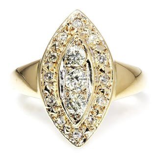 Vintage Marquise Shaped Diamond Ring