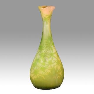 Emile Gallé Large Floral Vase