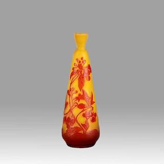 Slender Vase by Emile Galle