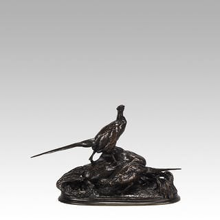 """Nesting Pheasants"" by Auguste Cain"