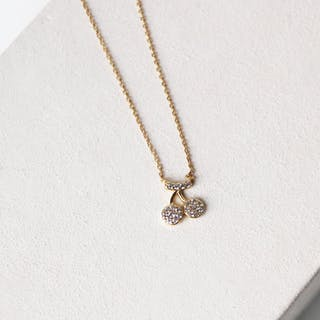 Summer Love - 18K Gold Plated Cherry Necklace