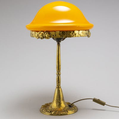 Bordslampa Jugend brons Herman Bergman