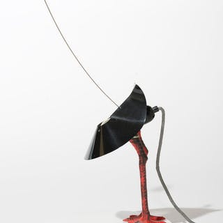 Limited edition Bibibibi Metal and Porcelain Lamp by Ingo Maurer, 1982
