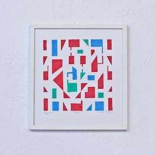 """""""Mosaik"""" pochoir print by Laila Prytz"""