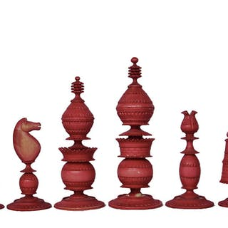 Antique Indian Export Chess Set, circa 1840