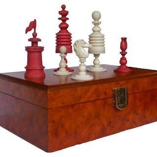 """Jaques"" Barleycorn Chess Set, circa 1840-60"