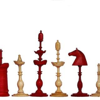 Elegant Danish Bone Chess Set, circa 1790