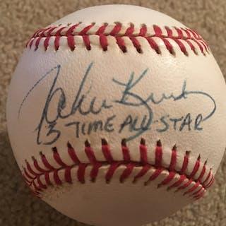JOHN KRUK 3 TIME A.S. SIGNED MLB BALL Very Cool