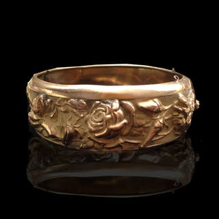 Alemaniak jewelry : Gold filled flower bracelet, ca.1890.