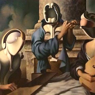 Vito Campanella (1932-2014) Surrealist Argentine painting titled l