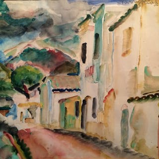 Harry Kidd (1899-1964) Texas artist Fave painting Spain circa 1920