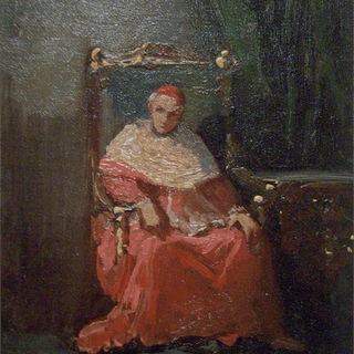 The Cardinal oil painting c.1870