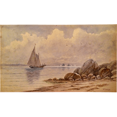"William George Puddefoot [1842-1925] American Artist Watercolor ""New"