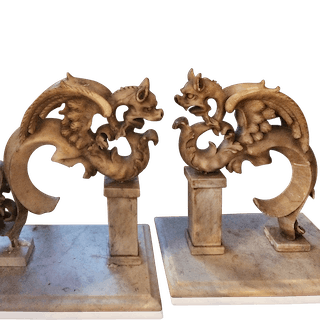 Mythological marble Architectural Fragments circa 1850