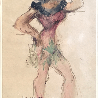 """Enrique De Larranaga [1900-1956] Argentina Artist """"Mascara"""" Dated 1955"""