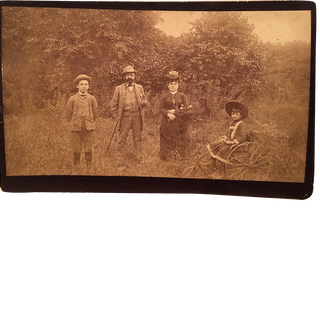 """My New Bicycle"" Outdoor Family Bridgeport Connecticut Photo circa 1890"