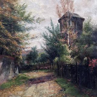"Julius F Dielmann [1862-1931] German Impressionist Painting ""Morning"