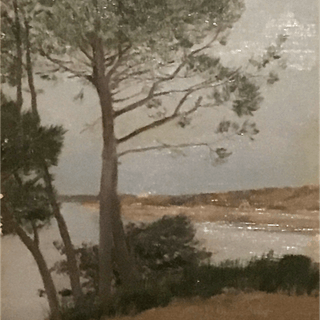"Adolphe Giraldon [1855-1935] French Impressionist Artist ""View Along"