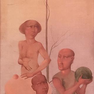 Edvardas Kokanauskis [1952-2002] Lithuanian Modernist Surrealist Painting
