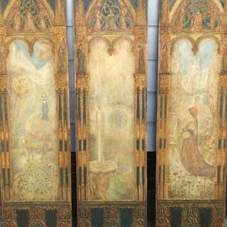 Luigi M Bonpensiere [1885-?] New York Artist Gothic ,Symbolist, Aesthetic
