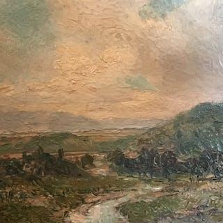 Louis Ernest Delius [1838-1922] American impressionist painting :